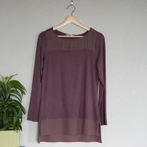 Cleo Loose Fit Mauve Shirt with Trim